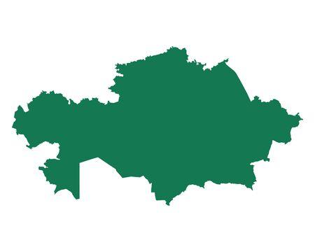 カザフスタン 地図  イラスト・ベクター素材