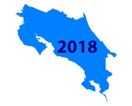 Map of Costa Rica 2018