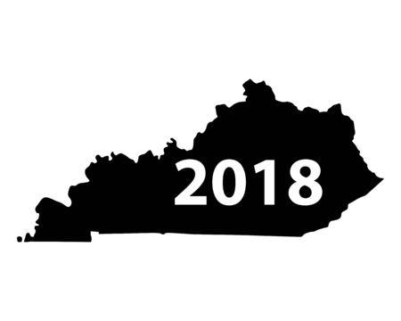 Map of Kentucky 2018