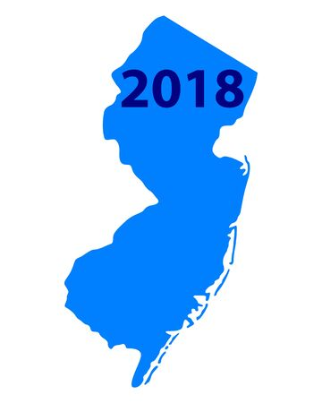Map of New Jersey 2018