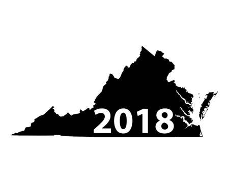 Map of Virginia 2018 Çizim