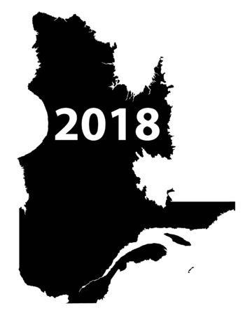 Map of Quebec 2018 向量圖像