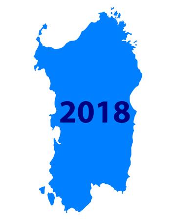 Map of Sardinia 2018 Иллюстрация