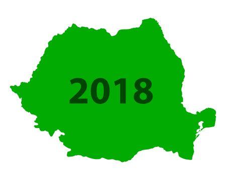 Carte de la Roumanie 2018 Banque d'images - 93020010