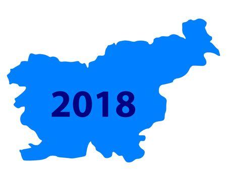 Carte de slovénie Banque d'images - 93020086