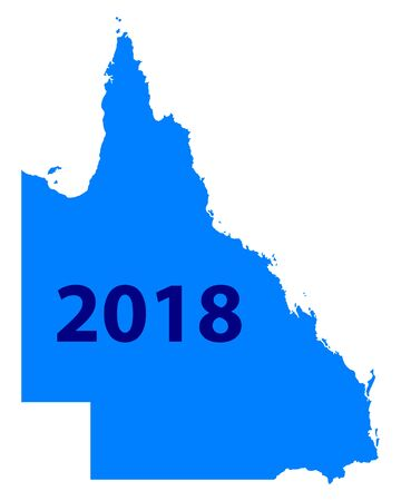 퀸즐랜드 2018지도 일러스트
