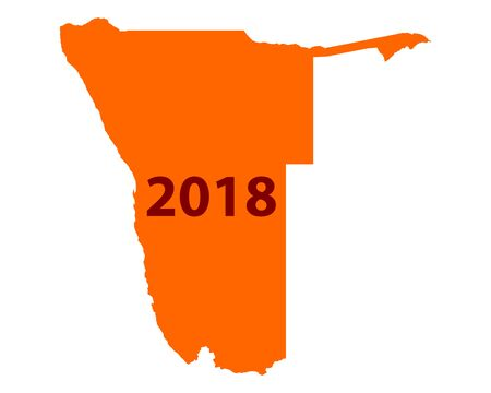 Map of Namibia 2018 向量圖像