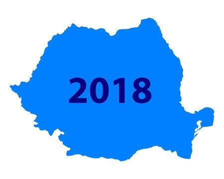 Kaart van Roemenië 2018