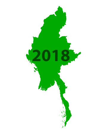 Map of Myanmar 2018