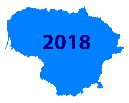 Map of Lithuania 2018