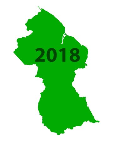 Map of Guyana 2018 Illustration