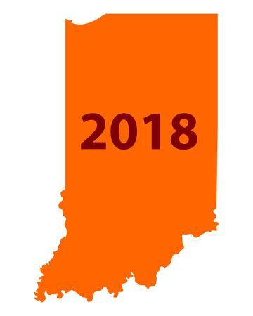 Map of Indiana 2018.