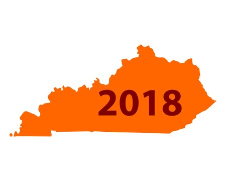 Map of Kentucky 2018.
