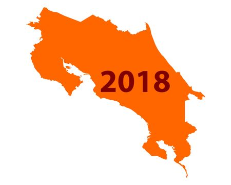 Map of Costa Rica 2018.