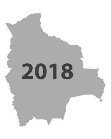 Map of Bolivia 2018.