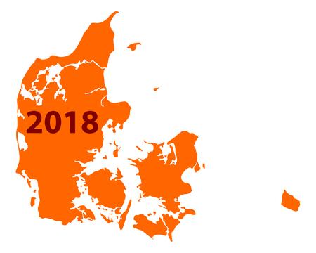덴마크 2018의지도입니다.