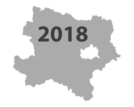 下部オーストリアの地図 2018.