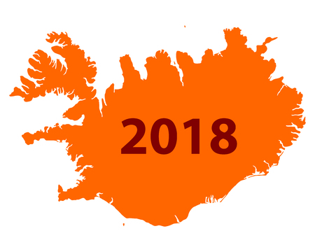 Map of Iceland 2018.