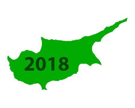 키프로스 2018의지도입니다. 일러스트