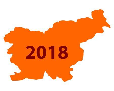 Carte de slovénie Banque d'images - 93225196