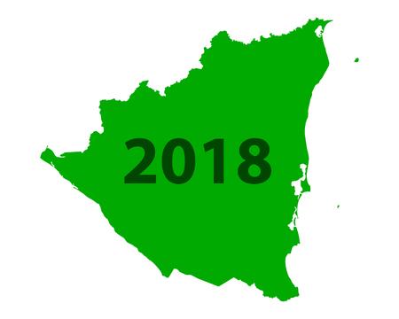 Map of Nicaragua 2018