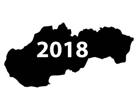 슬로바키아 2018지도