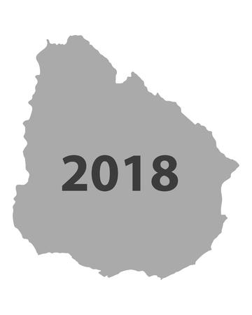우루과이 2018지도 일러스트