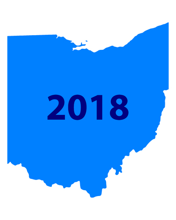 Map of Ohio 2018 Stock fotó - 93228565