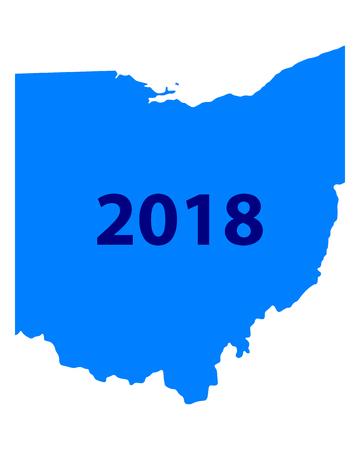 Map of Ohio 2018