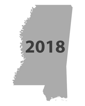 Map of Mississippi 2018