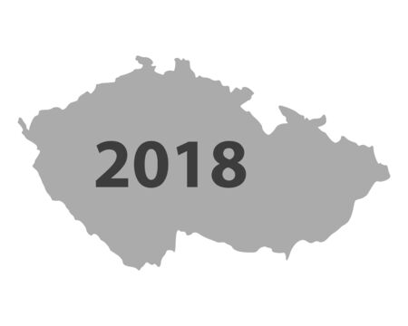 Map of Czech Republic 2018