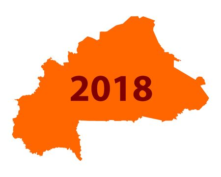 Map of Burkina Faso 2018