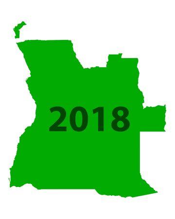 Map of Angola 2018 Illustration