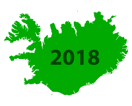 Map of Iceland 2018