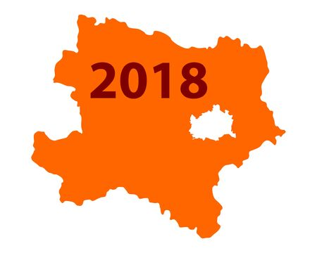 下オーストリア地図 2018