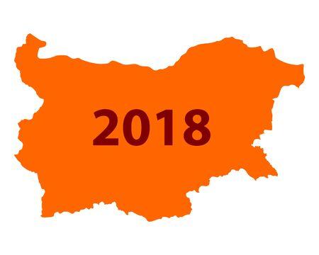 Map of Bulgaria 2018