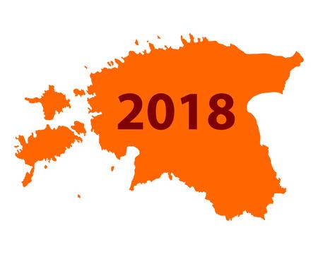 에스토니아 2018의지도 일러스트
