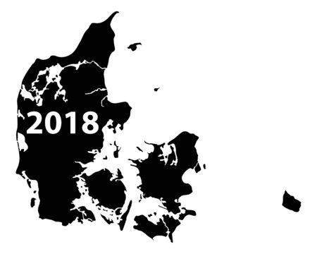 덴마크 2018의지도