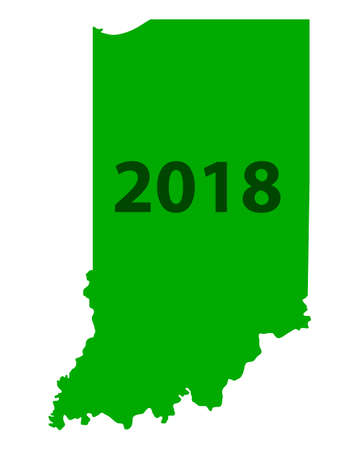 Map of Indiana 2018 white background