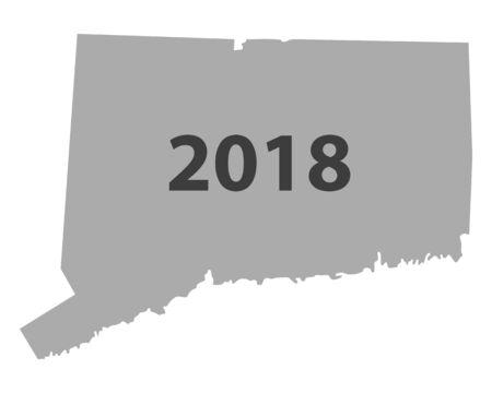 Map of Connecticut 2018 Illustration