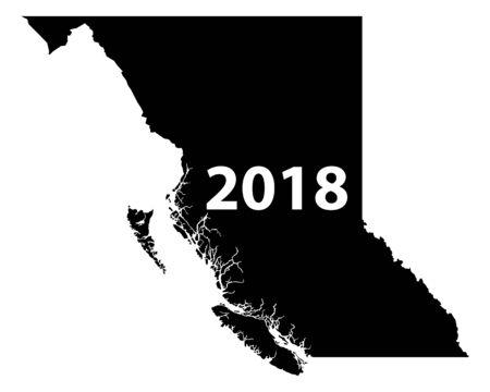 브리티시 컬럼비아주의지도 2018