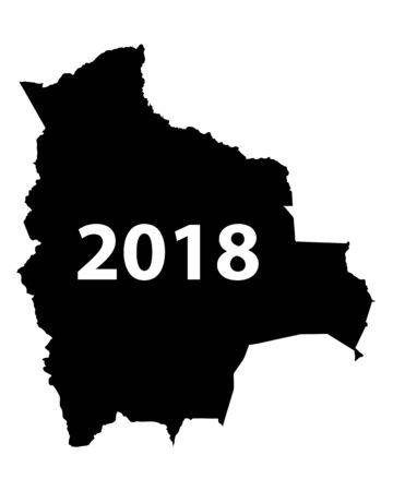 Map of Bolivia 2018