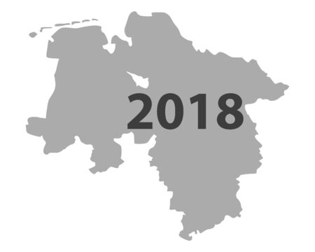 Karte der unteren Sicherheit 2018 Standard-Bild - 93449531