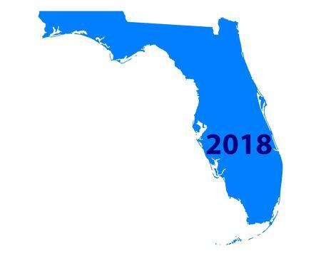 Map of Florida 2018 Illustration