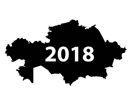 Map of Kazakhstan 2018