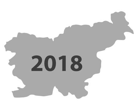 Map of Slovenia 2018