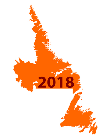 Map of Newfoundland and Labrador 2018