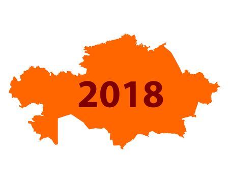 Map of Kazakhstan 2018