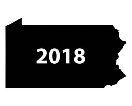 Map of Pennsylvania 2018 일러스트