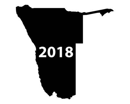 나미비아 2018지도 일러스트